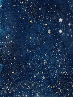 Celestial Space, Starry Night Sky by Carrie Stephens Art on @creativemarket