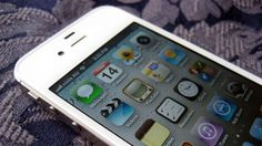 White iPhone 4S.