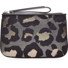 Marc by Marc Jacobs Animal Print Zip Clutch ($140) ❤ liked on Polyvore featuring bags, handbags, clutches, multicolor, animal print tote, oversized tote, zip top tote bag, oversized tote bags and black clutches