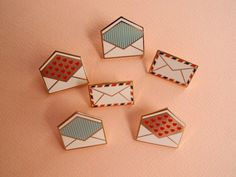 Envelope Enamel Lapel Pins by City Of Industry $12.00