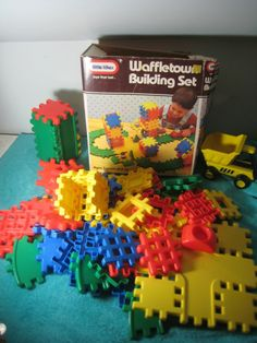 Little Tikes Waffletown Building Blocks Waffle Town LOT.  Have been trying to get my hands on these forever! The boys would love them!