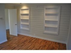 Great shelving idea for a small bedroom