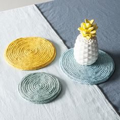 Mes supports en tricotin, Idées déco - Déclic Goa