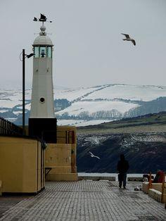 Peel lighthouse. Isle of Man.