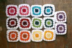 Amelie and Atticus: Rainbow Crochet Squares