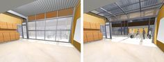Garage Doors for Flexible Learning #1 - Lawrence South Junior High School  - Architecture - Gould Evans