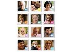 'M Is For Mama' Magnetic Portrait Set