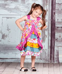 Look what I found on #zulily! Yellow & Purple Violet Olivia Dress - Infant, Toddler & Girls #zulilyfinds