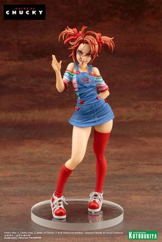 Official Photos of the Child's Play Chucky Bishoujo Statue - The Toyark - News Bishoujo Statue, Character Art, Character Design, Childs Play Chucky, Poses References, Anime Figurines, Anime Dolls, Vinyl Toys, Horror
