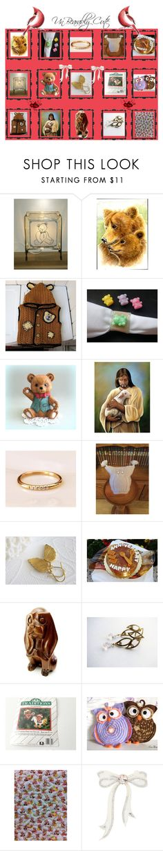 """""""Un""""Bear""""ably Cute"""" by cozeequilts ❤ liked on Polyvore featuring MARBELLA"""