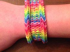Rainbow Loom Bracelet  Original designThe Rainbow Weave by EmzDesignz, $7.50 www.etsy.com/shop/emzdesignz. 3 looks in 1!