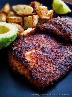 Pan-Seared Blackened Flounder, with recipe for Creole Seasoning...from shecookshecleans.net