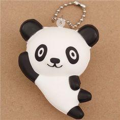relaxing panda bear squishy cellphone charm kawaii 1