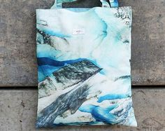 Ice cave High Quality Canvas tote bag