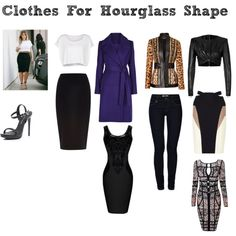 """""""Clothes for Hourglass Glass Shape"""" by dbstylist on Polyvore"""