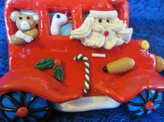 Vintage Christmas Ornament-Santa looking by NowAndThenConnection