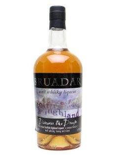 Bruadar is a liqueur (formerly known as Scottish Highland) made with malt whisky, honey and sloe berries. Not too sticky. Liquor Bottles, Vodka Bottle, Sloe Berries, Malt Whisky, Whisky Honey, Whiskey, Beverages, Alcohol, Food