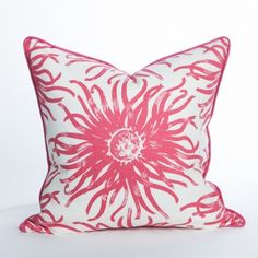 Anemone Pillow / Magenta - South Beach Collection | Beach Pillow | Coastal Pillow