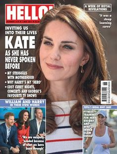 In this week's issue the Duchess of Cambridge reveals her struggles with motherhood, why Prince Harry is her hero and cosy nights in #outnow