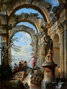 Ruins with Sibyl - Giovanni Paolo Panini, 1731, Fine Arts Museums (Legion of Honor) San Francisco, CA Museums Receive Major Gifts of Art from the Estate of Diana Dollar Knowles.