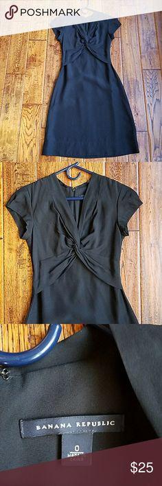 <banana republic> silk little black dress Great condition. 100% silk. Classic lbd. Fully lined. Banana Republic Dresses