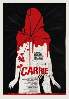 Methane Studios' movie poster for Carrie. Pretty damn iconic and in your face. I really love this poster. Horror Movie Posters, Horror Movies, Poster Retro, Poster S, Movie Poster Art, Poster Ideas, Vintage Posters, Retro Horror, Vintage Horror