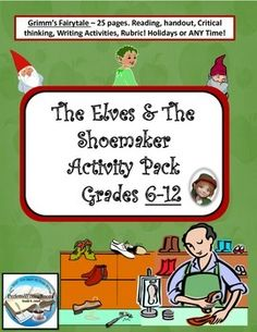 the elves and the shoemaker writing activities