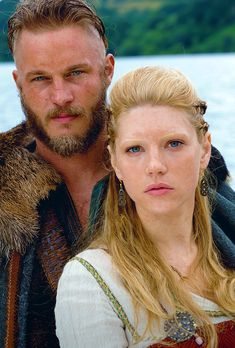 "Vikings ""Ragnar and Lagertha"" Lagertha Lothbrok, Ragnar Lothbrok Vikings, Lagertha Hair, Vikings Show, Vikings Tv Series, Katheryn Winnick, History Channel, King Ragnar, Digital Illustration"
