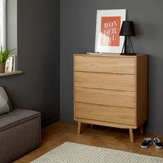 BuyJohn Lewis Bow 4 Drawer Chest, Oak Online at johnlewis.com