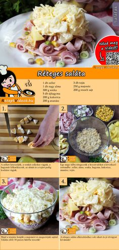 Salad Recipe with Video - Layered Salad with Celery / Salad Recipes - A popular salad, full of goodies. Just try the layered salad. You can easily find the layered salad -Layered Salad Recipe with Video - Layered Salad with Celery / Sal. Carrot Salad Recipes, Side Salad Recipes, Chopped Salad Recipes, Bean Salad Recipes, Summer Salad Recipes, Healthy Recipes, Summer Salads, Mediterranean Salad Recipe, Celery Salad
