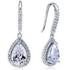 438ae4ba7 Serenity Sterling Silver Tear Drop Earrings Unique Earrings, Cheap Earrings,  Bridal Earrings, Silver