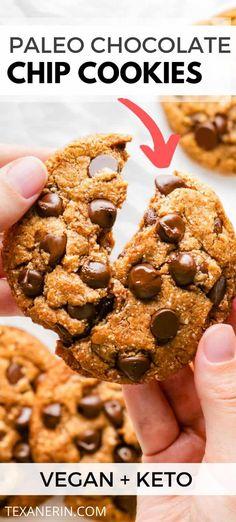 Perfect Paleo Chocolate Chip Cookies (vegan / keto options) - Texanerin Baking