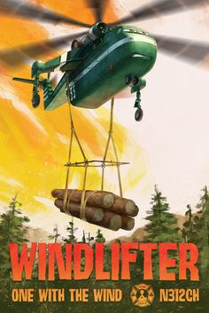 A heavy-lift helicopter, Windlifter does his part to protect the natural beauty of Piston Peak. Get to know Windlifter in Disney's Planes: Fire & Rescue, soaring into theaters in ONE WEEK.