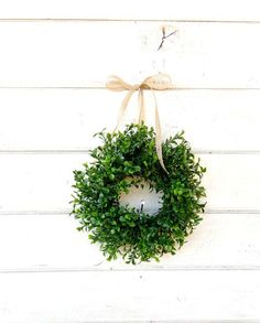 7e67af8b913 MINI Window Wreath-Boxwood Wreath-Country Cottage Wreath-Artifical Boxwood  Wreath-Wall Hanging-Small Wreath-Custom Made Gifts-Scented Wreath