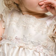 Jessica Christening Gown (Girl) | Silk Baptism Clothes & Dresses