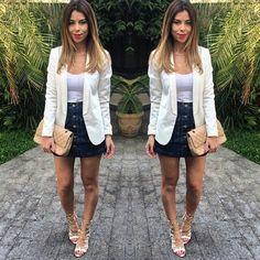 A segunda-feira começa inspirada pelo look da linda Michele Camacho a @micamacho . A sandália Tanara completa a produção com estilo  conforto. TOP! Ref.: N7801 #tanaralovers #fashionblogger #shoesfirst #lookdodia
