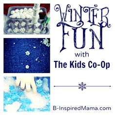 What is your kids' favorite winter activity?  Find 8 great resources for winter fun for kids from The Kids Co-Op at B-InspiredMama.com.