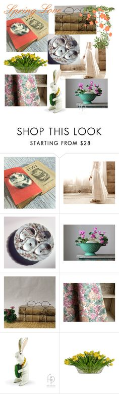 Spring Love by plumsandhoneyvintage on Polyvore featuring interior, interiors, interior design, home, home decor, interior decorating, Modern Vintage, The French Bee and vintage
