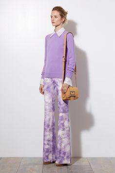 Michael Kors   Resort 2015 Collection   Purple. Cloud print.