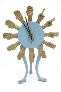 Rare Pedro Friedeberg Clock | red modern furniture