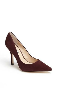 Love this plum color! Charles David 'Sway II' Suede Pump available at #Nordstrom