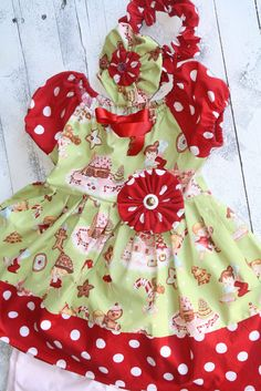 Angel Cakes and polka dots Print girls cotton dress for Christmas, holidays, winter dress with coordinating headband on Etsy, $55.00 Toddler Girl Christmas Outfits, Girls Christmas Dresses, Cute Outfits For Kids, Cute Kids, Polka Dot Print, Polka Dots, Winter Dresses, Summer Dresses, Angel Cake