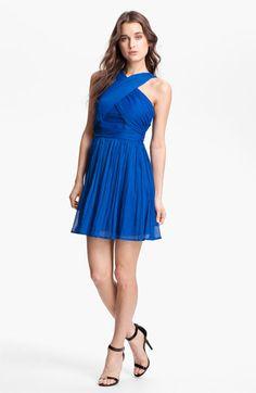 BB Dakota Keifer Crinkled Fit & Flare Dress   Nordstrom short blue bridesmaid dress...just need a diff color