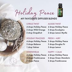 7 Popular Essential Oils for the Diffuser Essential Oils Christmas, Essential Oil Diffuser Blends, Doterra Essential Oils, Doterra Diffuser, Diffuser Recipes, Aromatherapy Oils, Osho, Holiday Peace Doterra, Au Natural