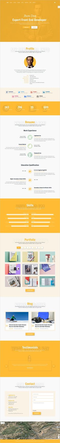 MUU - Unique and Creative Resume   Portfolio Template Download - front end developer resume