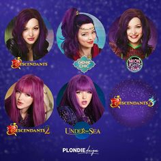 Mine is the Under the Sea one. That's probably my favourite<<<< mine is probably descendants 3 even tho it isn't on there Dove Cameron Descendants, Disney Descendants Dolls, Descendants Wicked World, Descendants Characters, Descendants Costumes, Descendants Cast, Cameron Boyce, Disney Villains, Disney Movies