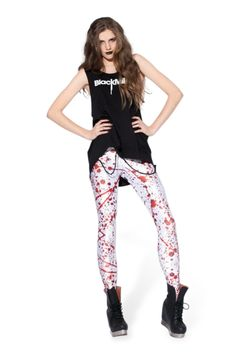 Blood Splatter Big Leggings › Black Milk Clothing --- Ok, I just want anything splatter. But mostly the skater ;)