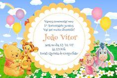 Convite digital personalizado Baby Pooh 008