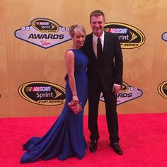 Clint & Lorra Bowyer, 2015 Sprint Cup Banquet. --- I was just wondering if she's as nutty as Clint!