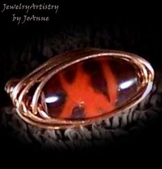 Handcrafted Copper Ring w/Handmade Glass Bead by JewelryArtistry, $25.00